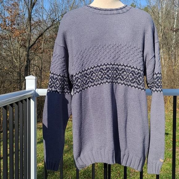 Columbia wool blend patterned sweater men's Sz XXL